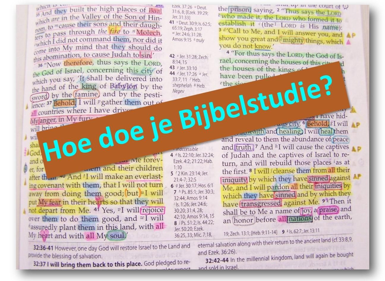 bijbelstudie hoe