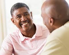 mannen gesprek