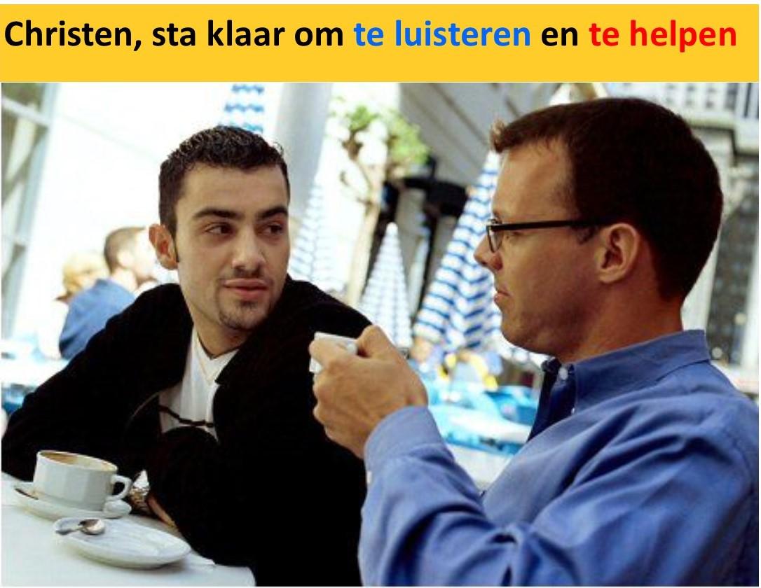 luisteren en helpen