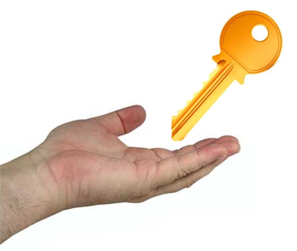 sleutel ontvangen