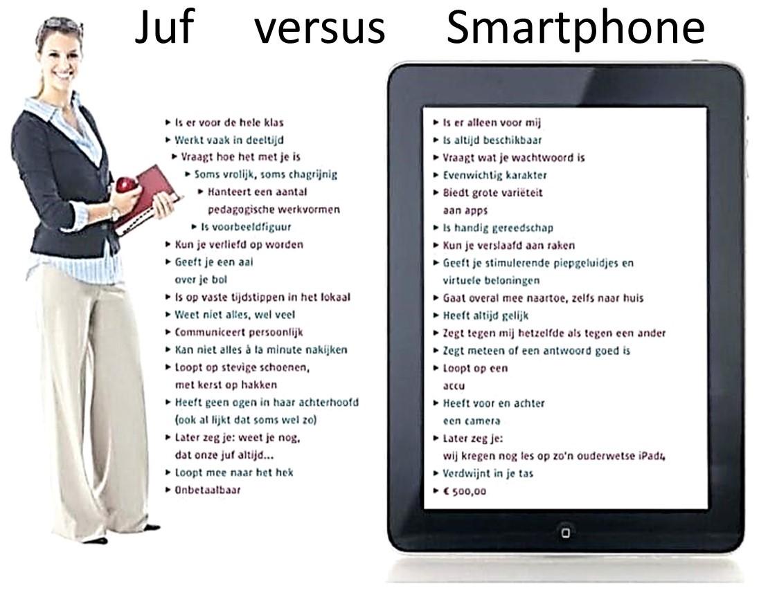 juf versus smartphhone