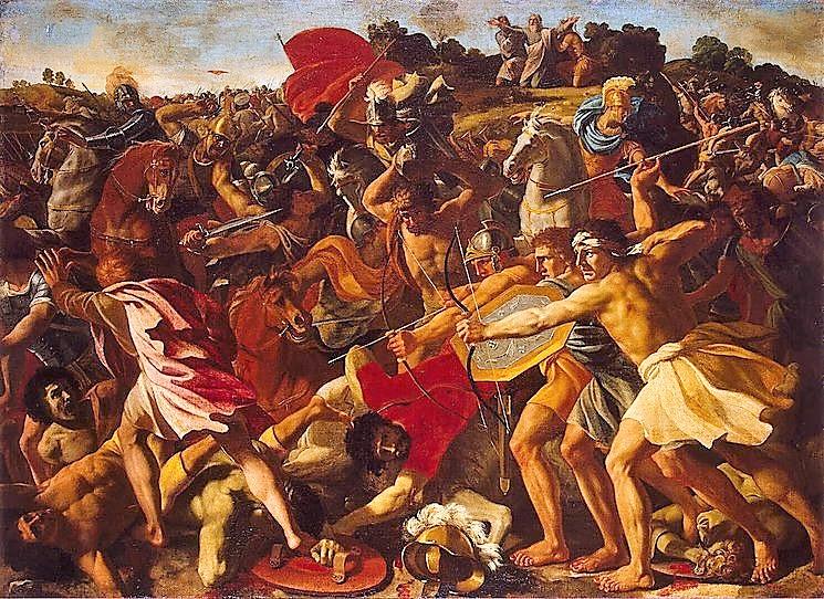 Victorie van Joshua over de Amalekites
